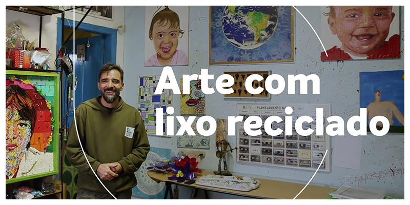 Sandro Rodrigues: Arte com lixo reciclado (English subtitles)